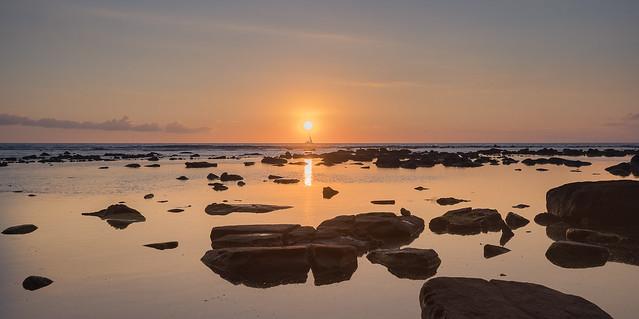 Beautiful Sunset in Mauritius