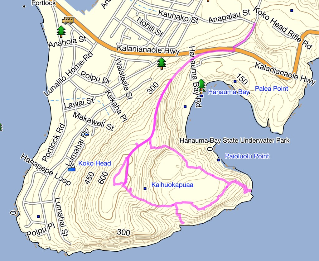 Koko Head Trail Topo Map | This is a picture I took during m… | Flickr