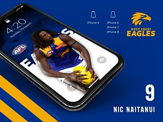 #9 Nic Naitanui (West Coast Eagles) iPhone Wallpapers | by Rob Masefield (masey.co)