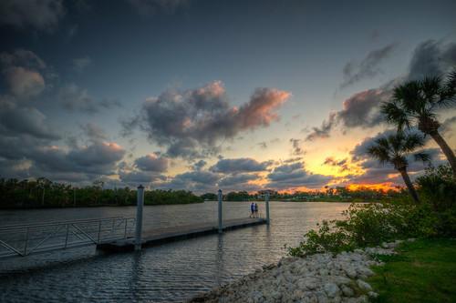 manatee river sun sunset florida parrish manateeriver dock water landscape parrishflorida fl fla