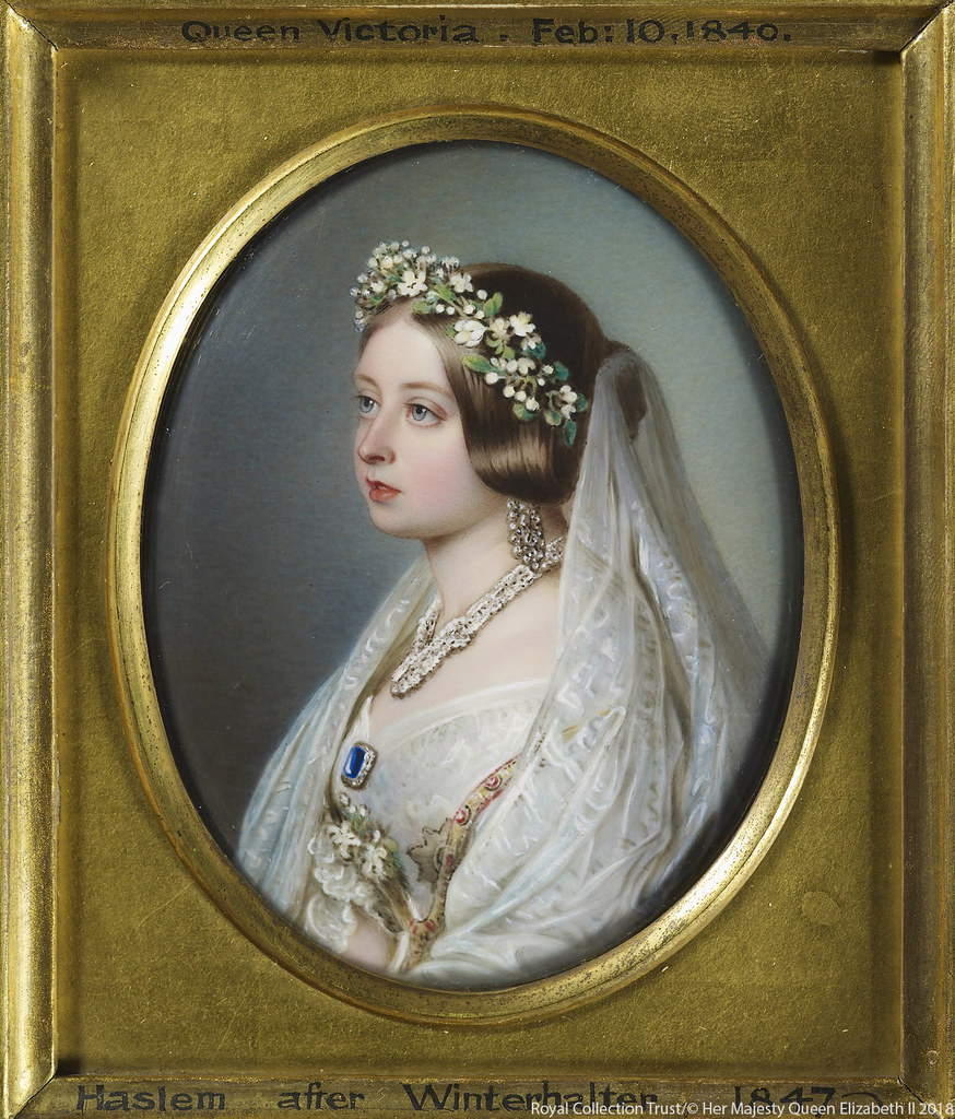 White Wedding Dress Queen Victoria: Queen Victoria In Her Wedding Dress