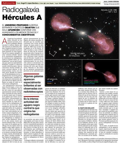 Zoco de Astronomía: La radiogalaxia Hércules A | by Ángel López-Sánchez