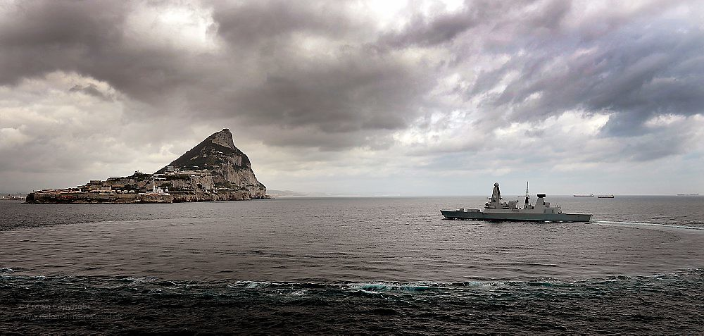 HMS Dragon Near Gibraltar