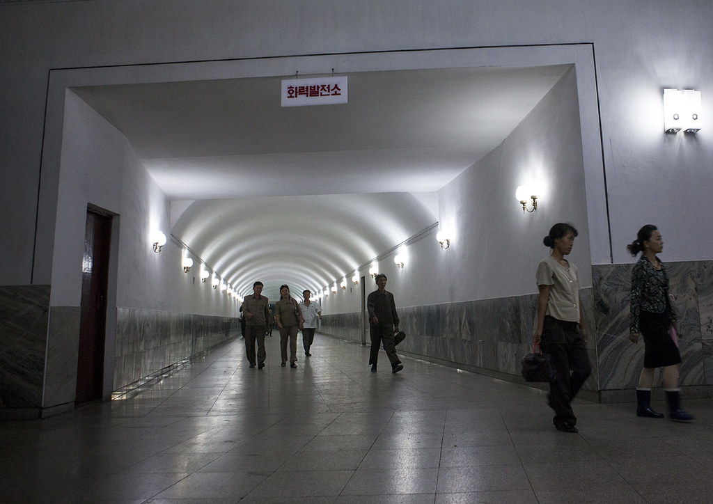 Corridor Inside The Subway, Pyongyang, North Korea