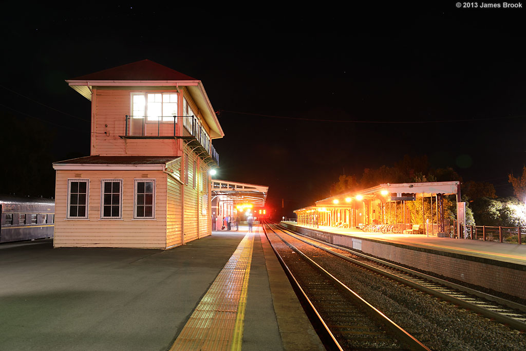 Castlemaine station by James Brook