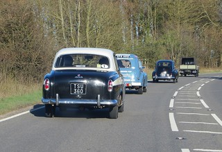 Peugeot 403 and friends in convoy   by Spottedlaurel