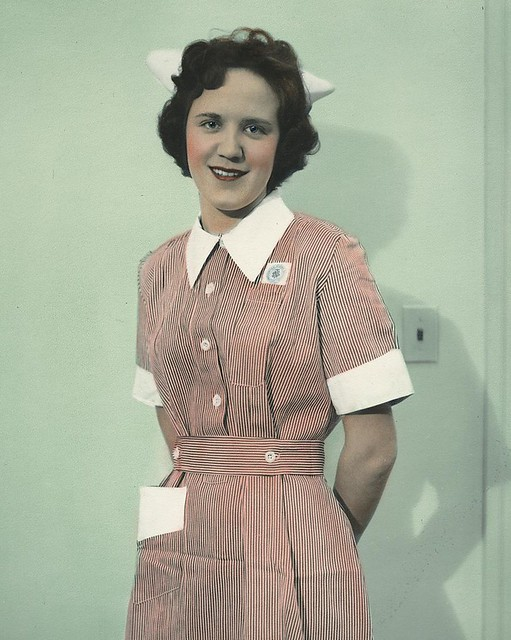 Nurse wearing uniform from Kenya