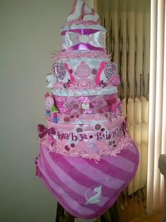 Baby Diva Diaper cake 5 Tiers