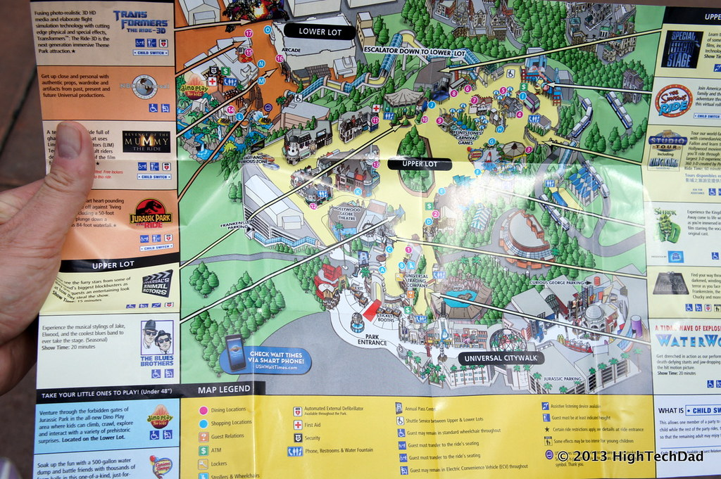 Park Map Universal Studios Hollywood