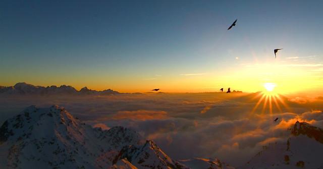An Alpine sunset.
