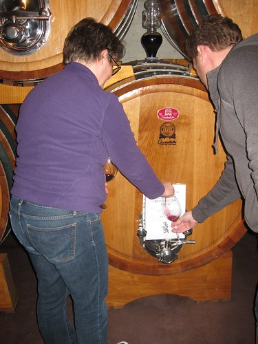 Barrel tasting Brunellos from 2012 back to 2009   by jetsetwhitetrash