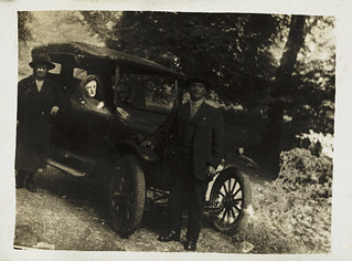 Couple with a spirit in their car | by National Science and Media Museum