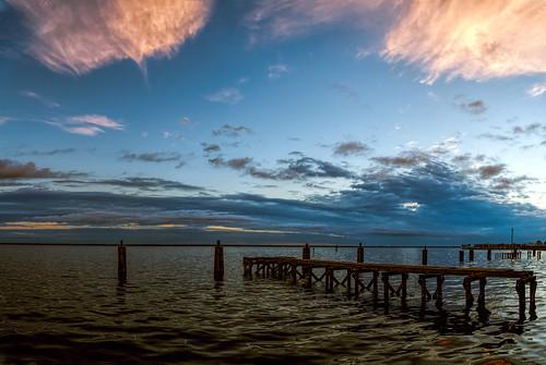 sky panorama usa cloud lake water weather sunrise landscape dawn dock florida panasonic sanford centralflorida gx7 dmcgx7