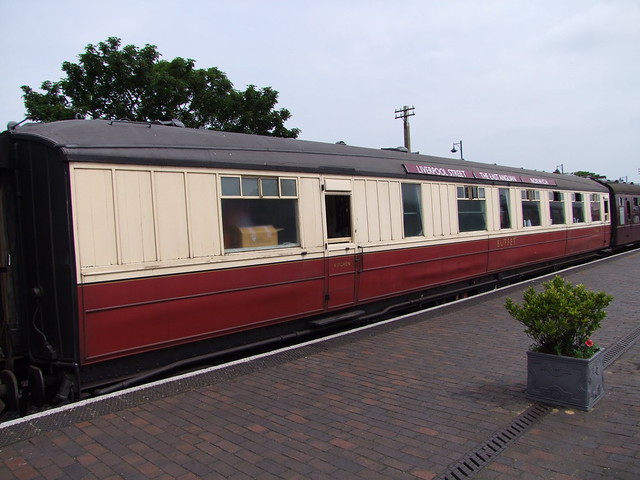 Gresley coach (with roof destination boards) at Sheringham 11-06-16