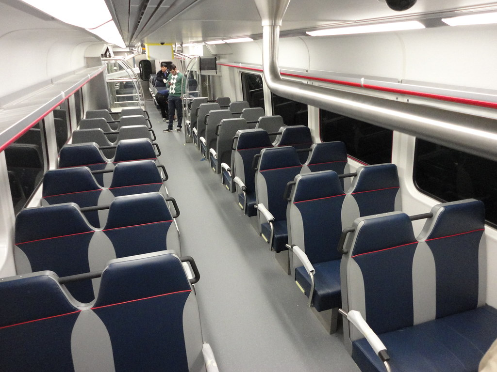 Rtd Fastracks First Commuter Rail Car The Center Seating