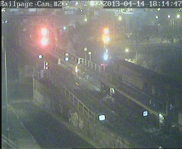 NR101-NR70 4PW4(9822) PN Steel from Perth(to Port Kembla later tonight) 14-4-2013 by Railpage Bunbury Street
