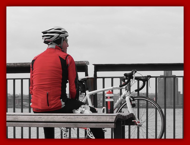A rest at the Pier Head