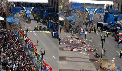 Before/After shots of Boston Marathon 2013