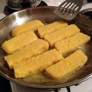 Polenta frying | by Texarchivist