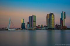Rotterdam, Netherlands at sunset