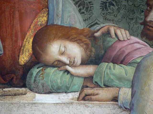 PERUGIN (Vannuci),1493-96 - La Cène, fresque (Cenaculo di Fuligno) - Detail 1
