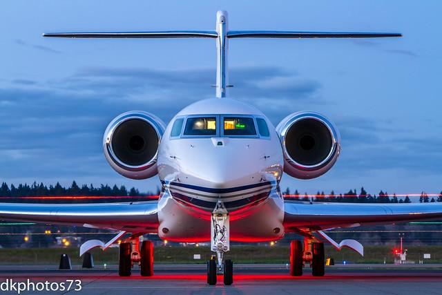 Gulfstream 650 in Twilight