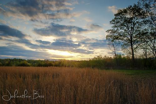 blue sunset sun mountains field grass set virginia spring nikon state bass north straw line ridge johnathan va carolina cana hdr springtime photomatix d80 broomstraw