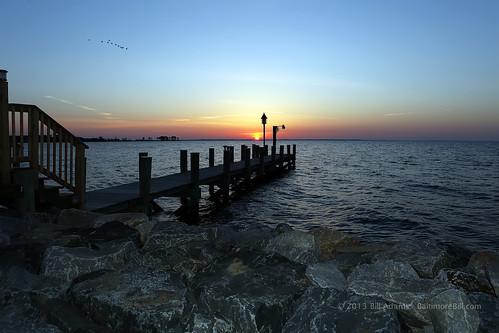 sunrise pier maryland easternshore canonef2470mmf28lusm tilghman tilghmanisland talbotcounty birdblackwalnutpointinn
