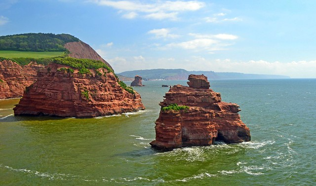 Ladram Bay sea stacks