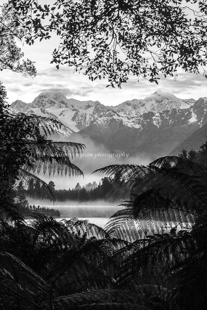 portrait of lake matheson