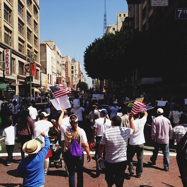 Immigration Reform News: Immigration Reform March In Downtown Los Angeles