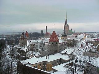 Tallinn's old town rooftops