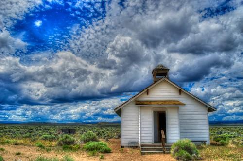west water clouds oregon rural landscape hdr tonemapped