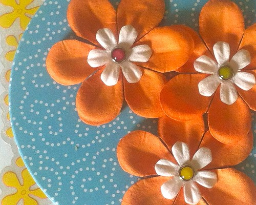 Close-up of flower embellishment | by Tricia@cheeky attitude