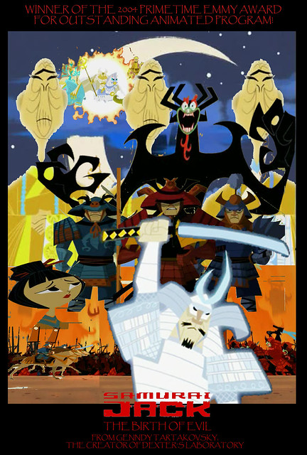 Samurai Jack Birth of Evil Fanmade Tribute Photoshop Collage Poster by Timbox 01