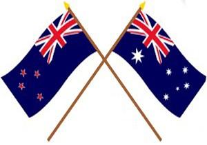 australia and new zealand flag