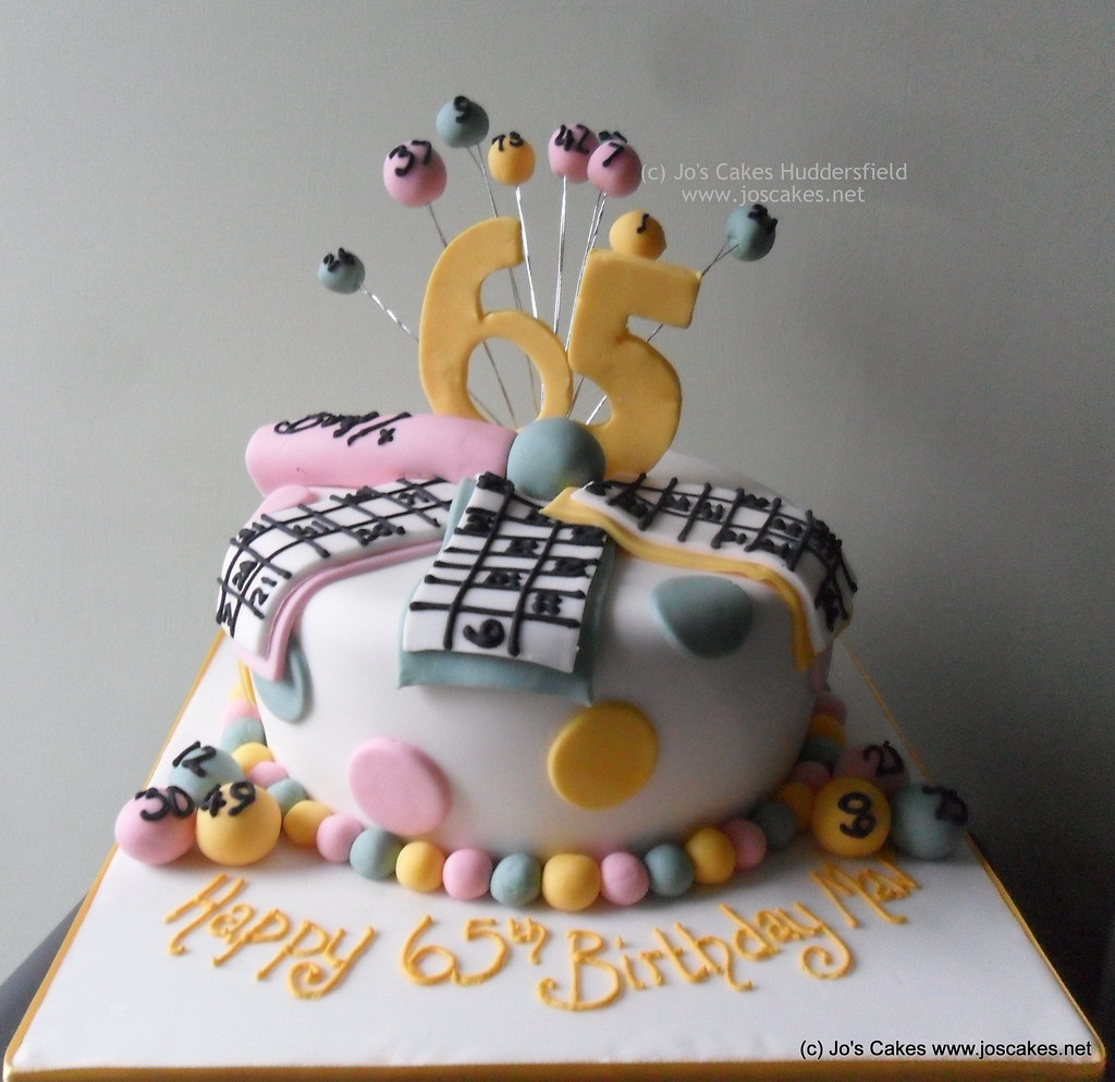 Pleasing Bingo Themed 65Th Birthday Cake Based On An Image Supplied Flickr Funny Birthday Cards Online Inifofree Goldxyz