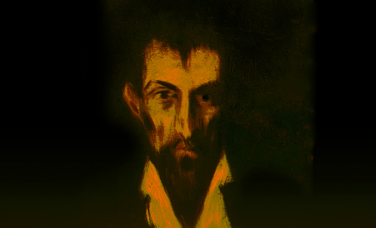 Duelista, identificación de Doménikus Theokópoulos el Greco (1580), focalización de Pablo Picasso (1899).
