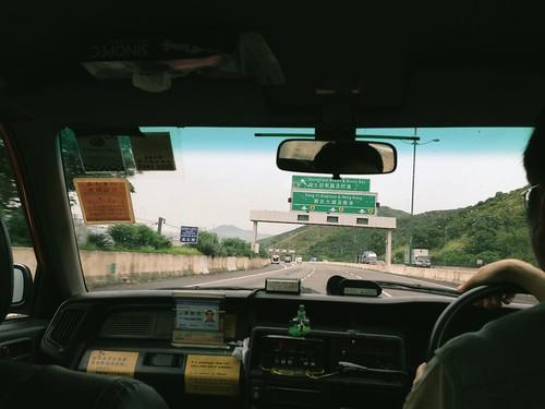Taxi ride into Hong Kong   by sangsara