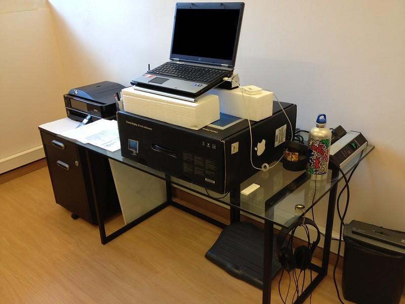 Improvised Standing Desk