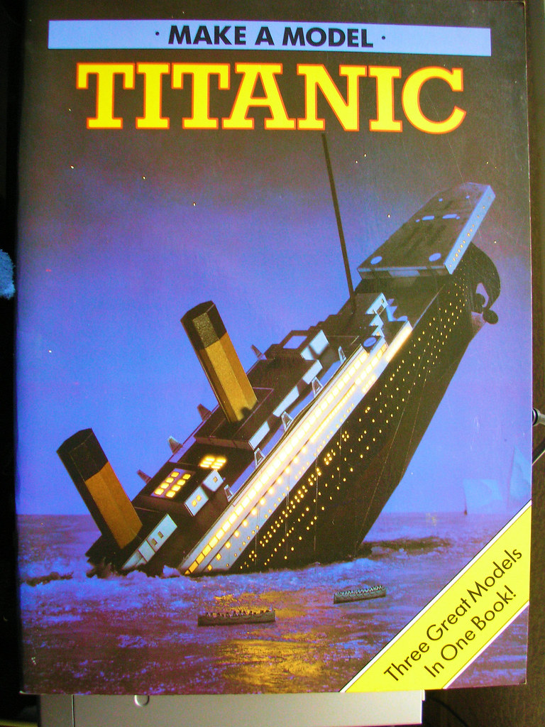 Titanic Three Card Models Book c 1986  Front  | Jimmy | Flickr
