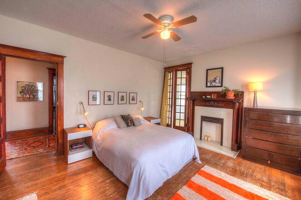 Master Bedroom | French doors to sleeping porch and lovely o ...