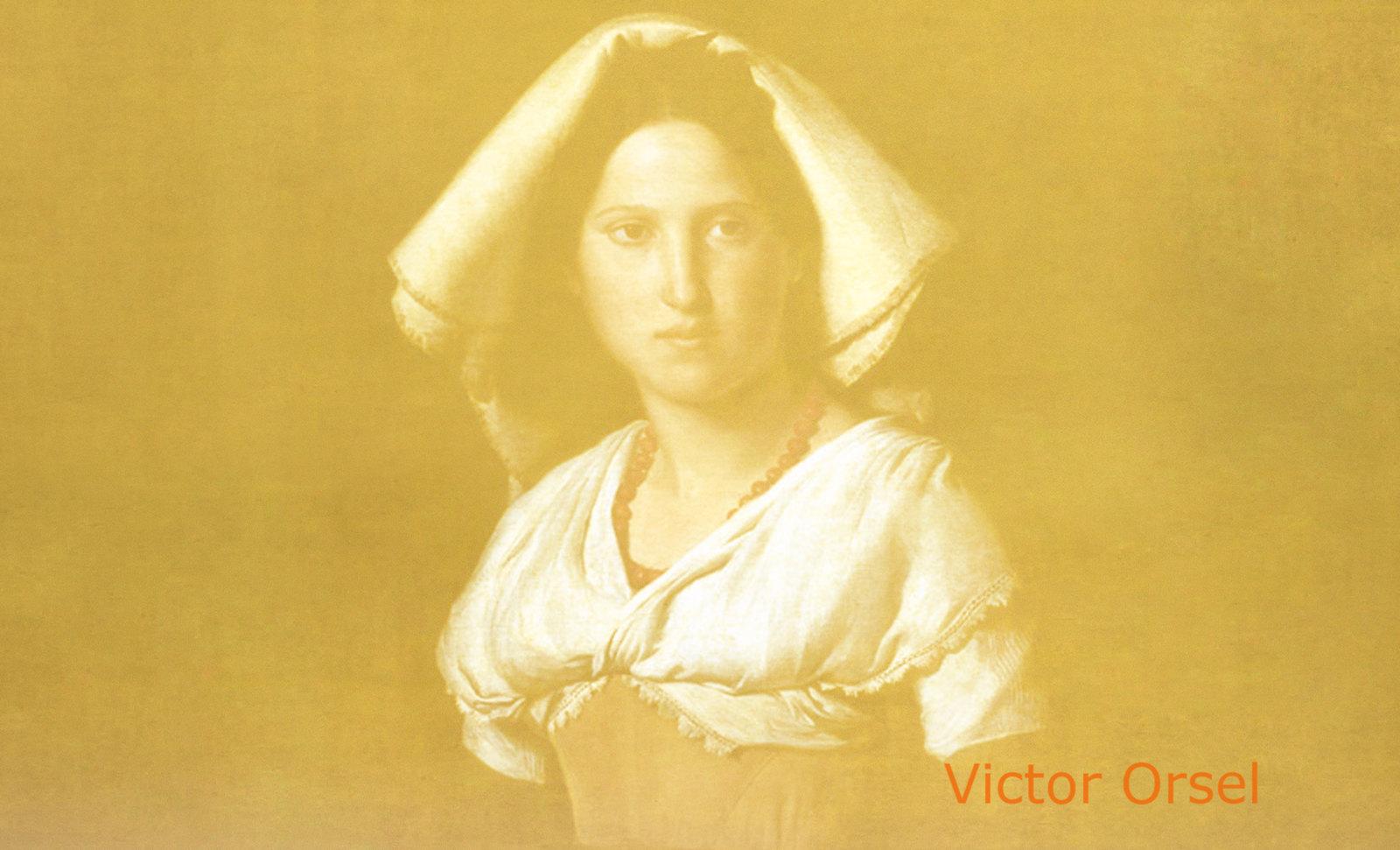 Vittoria Caldoni, idealización de Friedrich Overbeck (1824) y Víctor Orsel (1826), ensamble de Pablo Picasso (1953).