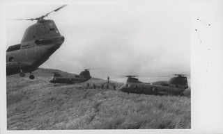 Marines Board Sea Knight Helicopters, 28 August 1968