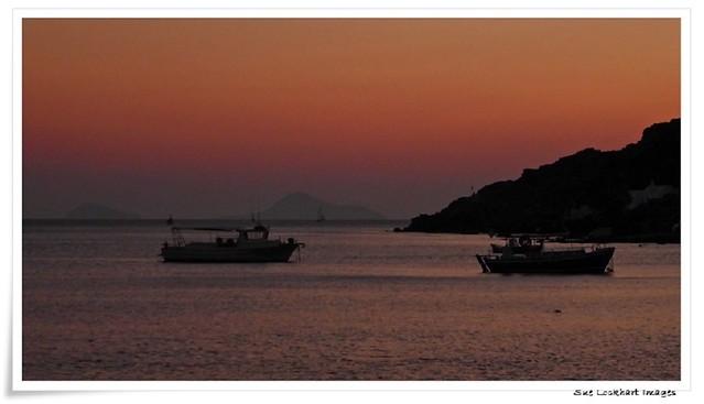Sunset at Akrotiri beach