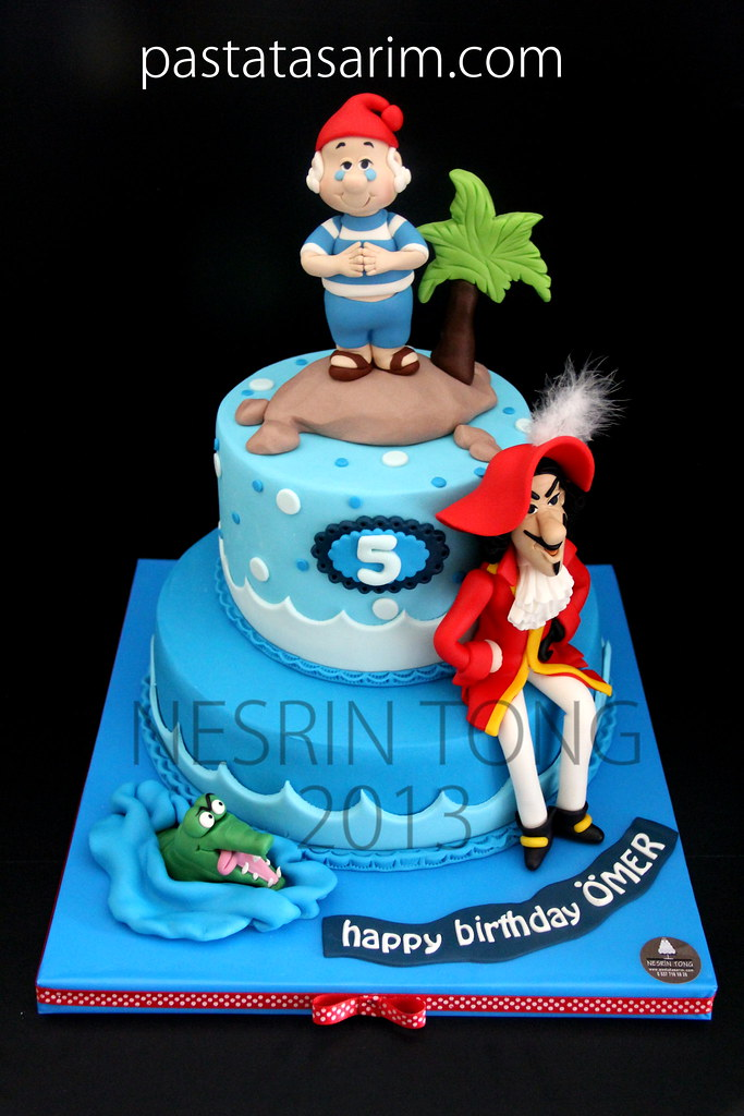Miraculous Captain Hook Cake Cake By Nesrin Tong Flickr Personalised Birthday Cards Arneslily Jamesorg