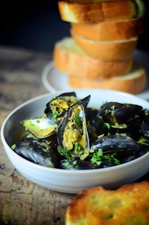 Mussels in Yogurt Broth | by abrowntable