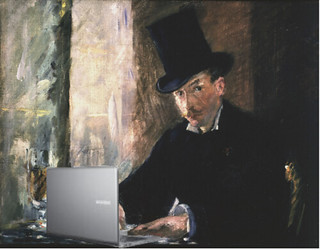 Blogging at Chez Tortoni, after  Édouard Manet | by Mike Licht, NotionsCapital.com