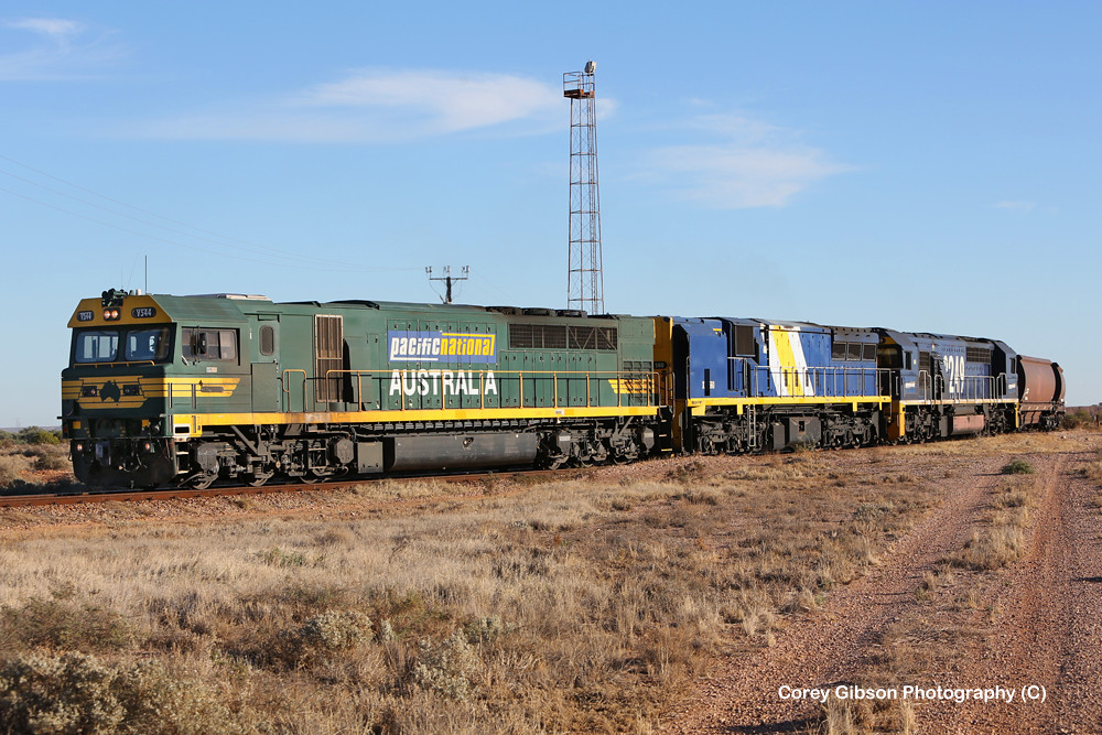 V544, XRB560 & 8249 load of coal for the Pt Augusta Power Station by Corey Gibson