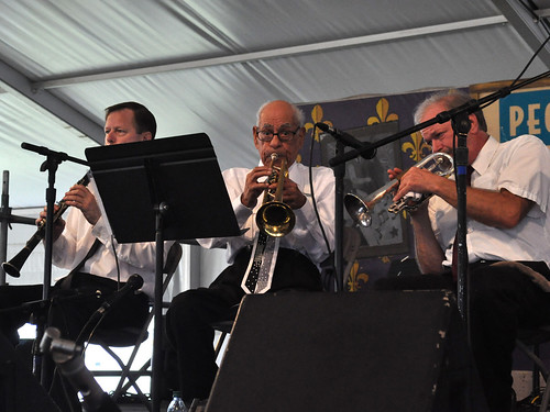 Lionel Ferbos and the Palm Court Jazz Band in the People's Health Economy Hall Tent